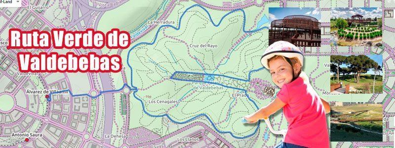Ruta en bici con niños por la Ruta Verde de Valdebebas