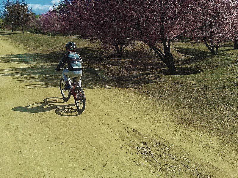 Niño en bici por la Casa de Campo