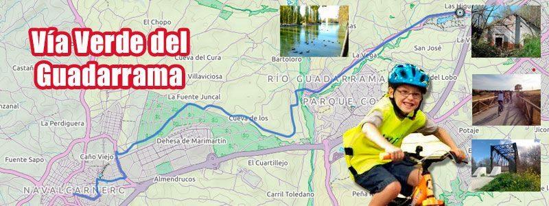 Ruta en bici con niños por la Vía Verde del Guadarrama en Madrid