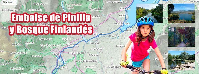 Ruta en bici con niños por el embalse de Pinilla y el Bosque Finlandés