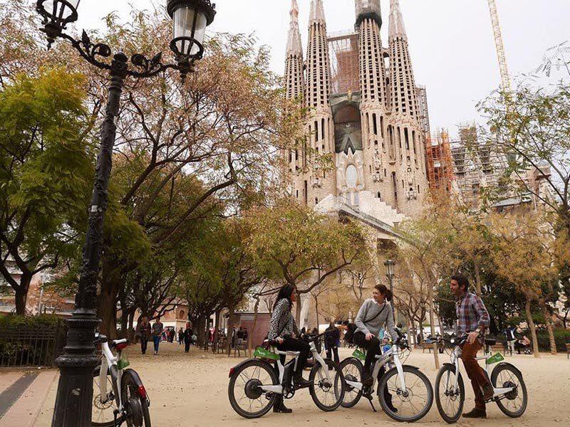 Sagrada Familia en bici