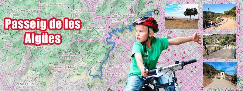 Rutas en bici con niños por Barcelona - Passeig de les Aigües