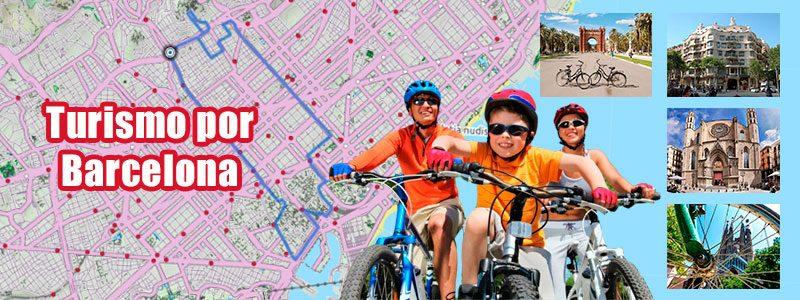 Turismo en bici por Barcelona con niños
