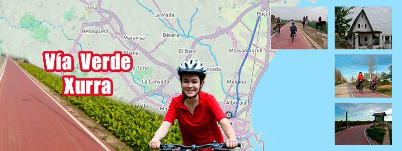 Ruta en bici con niños por Valencia - Vía Verde Xurra