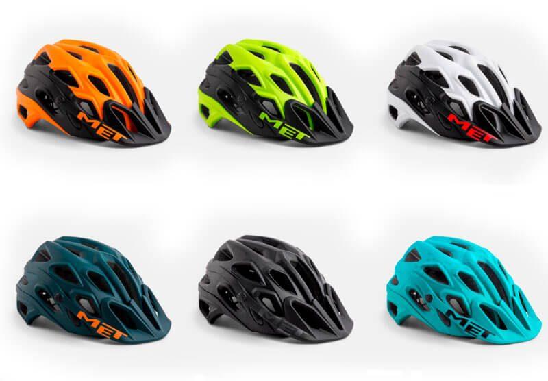 Colores del casco de MTB Met Lupo 2018