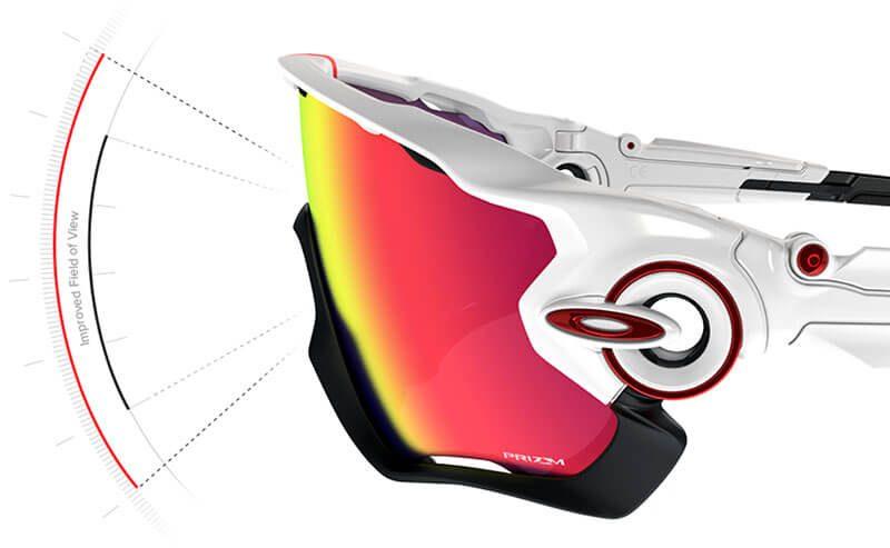 Campo visual sin límites de las gafas oakley jawbreaker