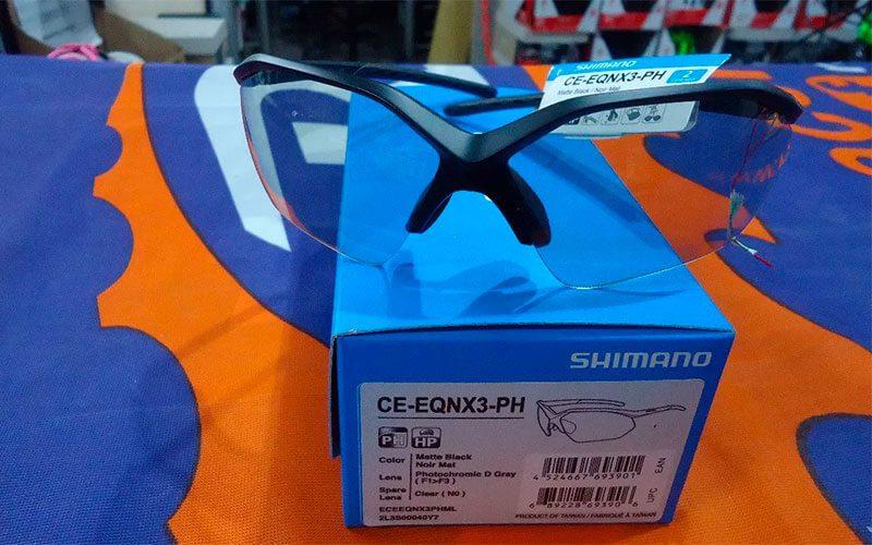 caja gafas fotocromáticas shimano equinox 3
