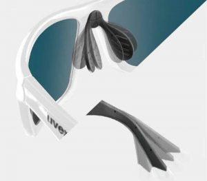 Gafas Uvex con patillas y puente nasal flexibles