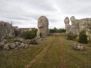 Formaciones rocosas al final de la subida