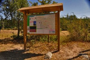 Panel informativo del Parque Natural
