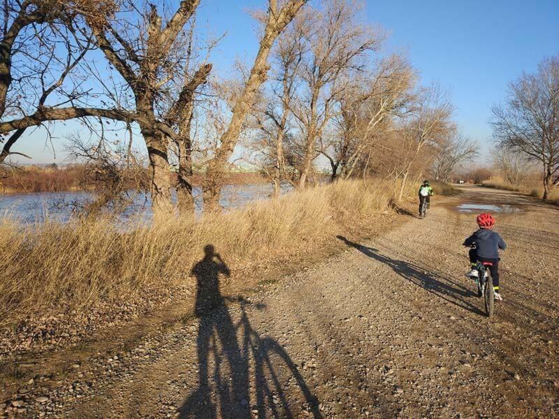 Pista junto al Ebro - Anillo Verde de Zaragoza