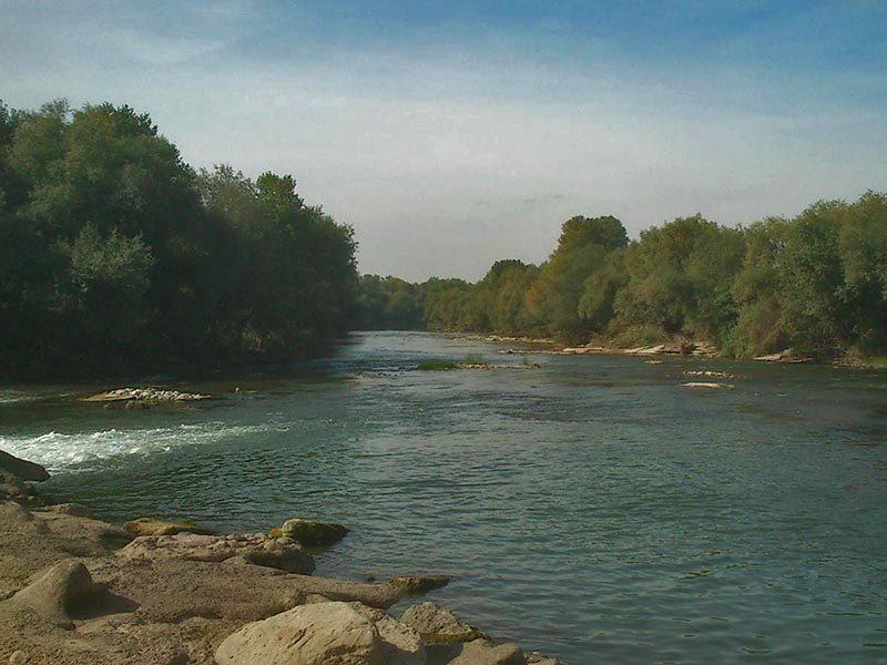 Río Segre desde la pasarela