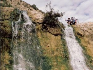 Salto de agua en la Rambla de Pusa