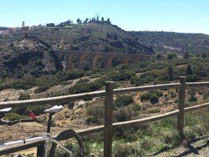 Vista del viaducto de Albentosa desde la salida del túnel