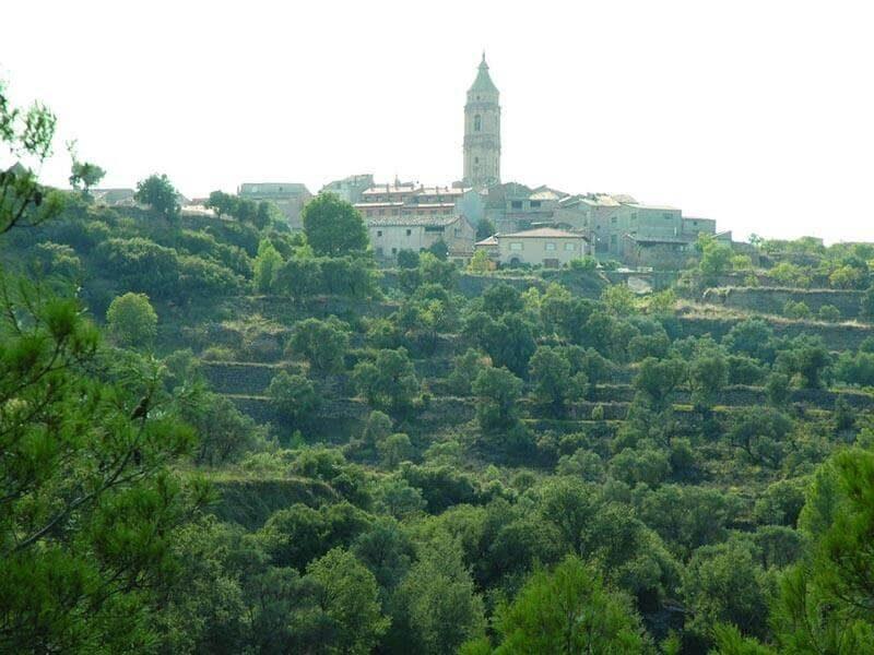 Vistas de la Torre del Compte desde la ruta