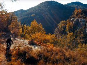 Ruta para bici espectacular en Otoño