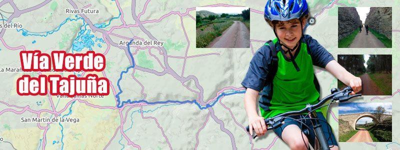 Ruta en bici con niños por la vía verde del Tajuña