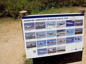 Aviones de El Prat - Delta del Llobregat en bici