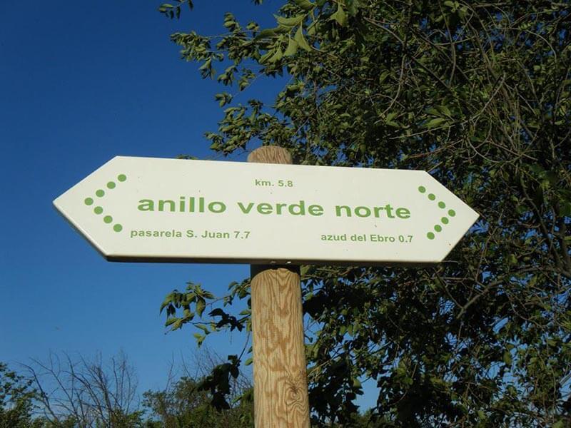 Cartel Anillo Verde Zaragoza Norte