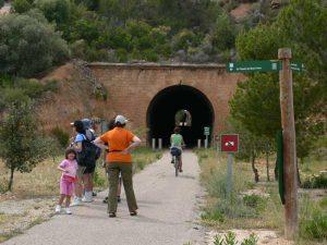 Inicio de la ruta en el Pinell de Brai