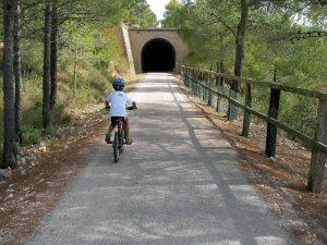 Via Verde de la Terra Alta vamos enlazando tuneles