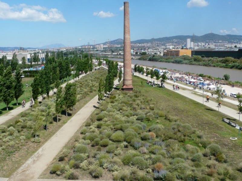 Vista aérea del Parc del Riu Llobregat