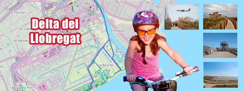 Delta del Llobregat - Rutas con niños por Barcelona en bicicleta