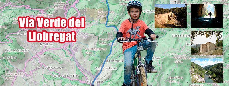Vía Verde Llobregat Rutas en bici con niños barcelona