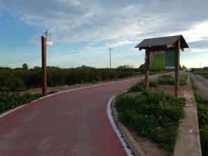Final de la Vía verde Xurra en Puçol