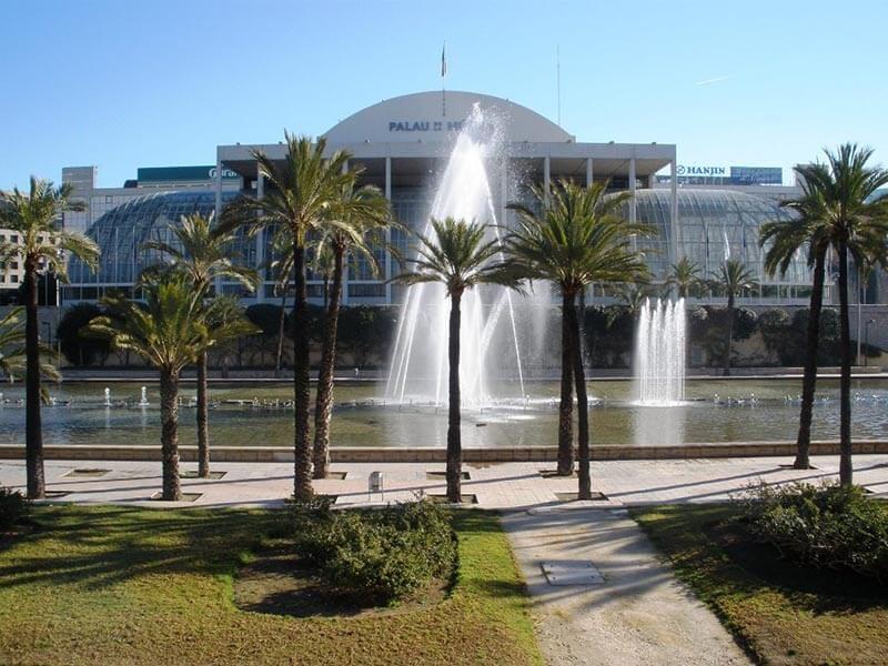 Palau de la Música - Río Turia en bici