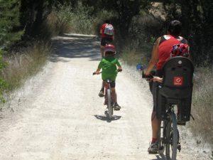 Parque Fluvial del Turia en bici con niños