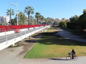 Puente de las Flores - Río Turia en bici
