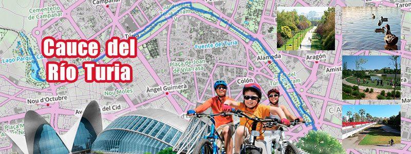 Ruta en bici con niños por Valencia - Cauce del Río Turia