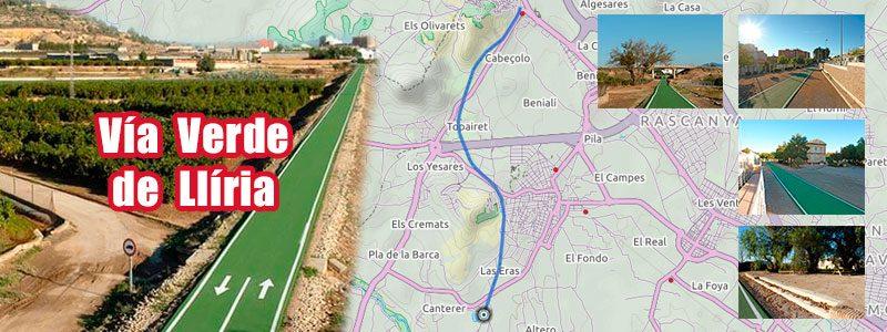 Ruta en bici con niños por Valencia - Vía Verde Llíria