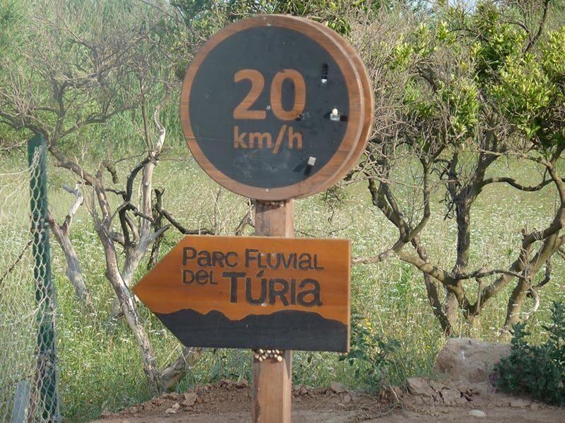 Señalización Parc Fluvial del Turia