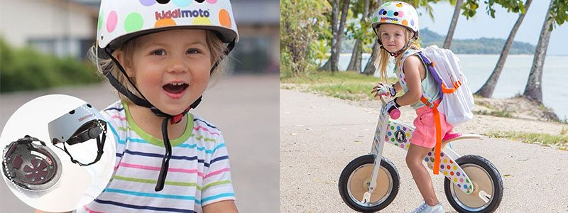 Casco para niña Kiddimoto Dotty - Vistas