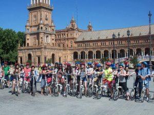 Plaza España de sevilla en bici - Ruta Turística
