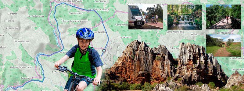 Ruta en bici con niños por la Sierra Norte de Sevilla