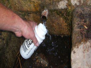 Fuente de agua durante la ruta MTB