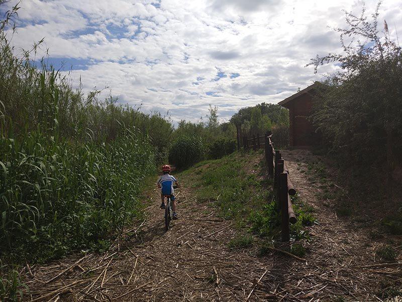 Entrada a la senda del Galacho de Juslibol