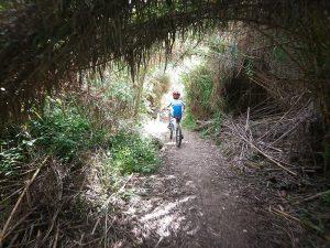 Pasaremos por túneles naturales con nuestra Bici