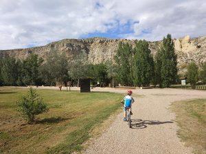 Salimos de la Senda y volvemos al Parque del Galacho de Juslibol