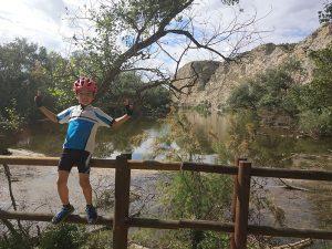 Galacho de Juslibol en Bici con niños