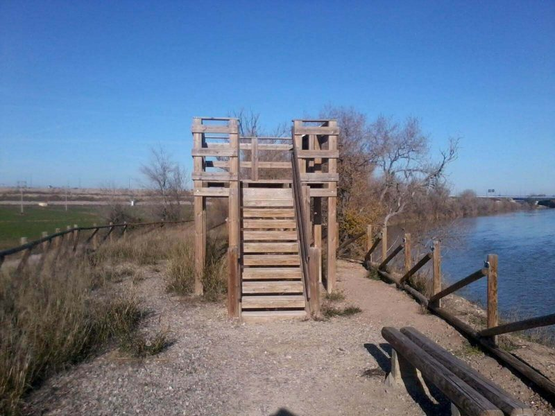 Miradores al Ebro en el Camino Natural de La Alfranca