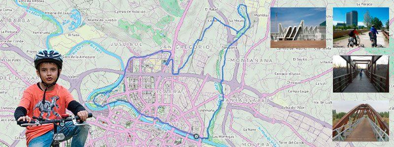 Ruta en bici con niños por Zaragoza - Anillo Verde Norte
