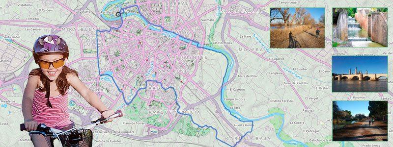 Ruta en bici con niños por Zaragoza - Anillo Verde Sur