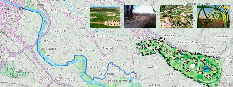 Ruta en bici con niños por Zaragoza - Galacho de Juslibol
