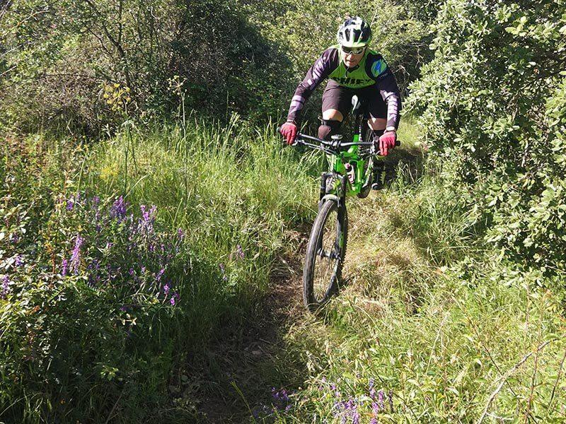 Sendas rodeadas de vegetación - BTT por Paniza