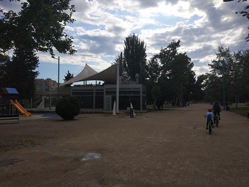 Parque Macanaz en bici - Zaragoza