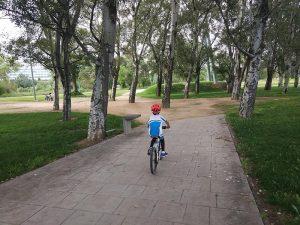 Bajando a la margen derecha del Ebro en bici